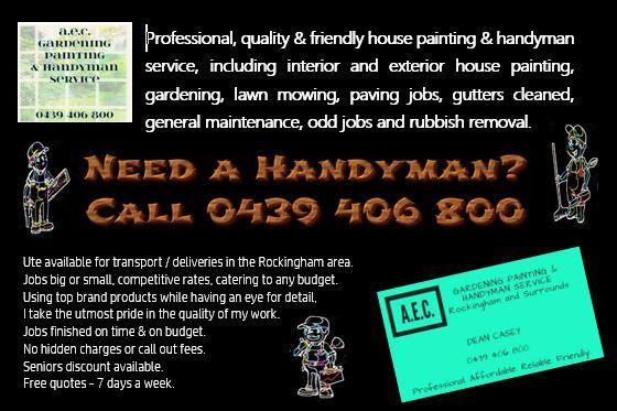 AEC Gardening Painting & Handyman Service – Cooloongup WA